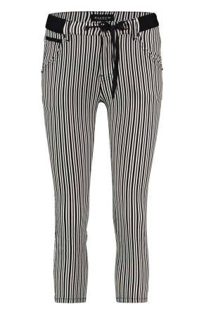 Bianco Jeans Bianco 1119562-Picotite Small Stripe Black