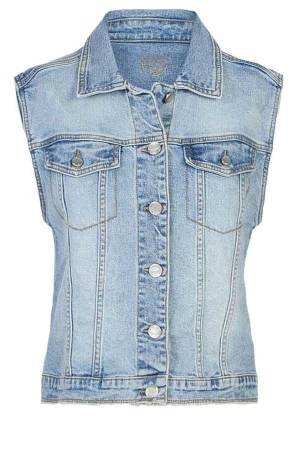 Summum Gilet Summum 9s080-5047 426-Vintage blue denim