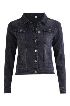Simply Chic Jeans Jacket Simply Chic Jeans jacket H205 Black