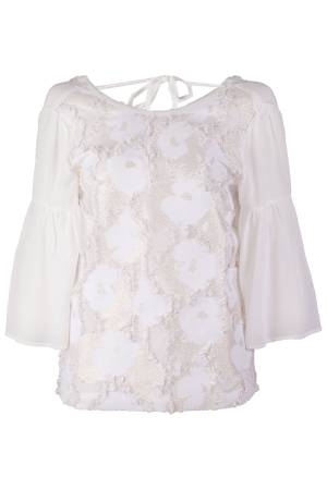 Summum Blouse lm Summum 2s2021-10505C Sugar (118)