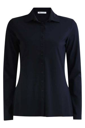 AW Essentials Blouse lm AW Essentials AW S18-4100.181 Navy