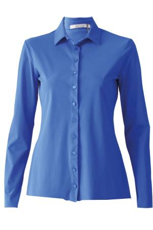 AW Essentials Blouse lm AW Essentials AW S19-4100 Kobalt