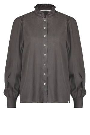 Penn&Ink Blouse lm Penn&Ink W20W280 hampt. grey