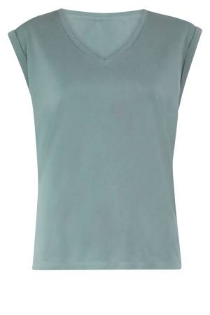 Simple Blouse lm Simple PHELINE TOP MINERAL GREEN