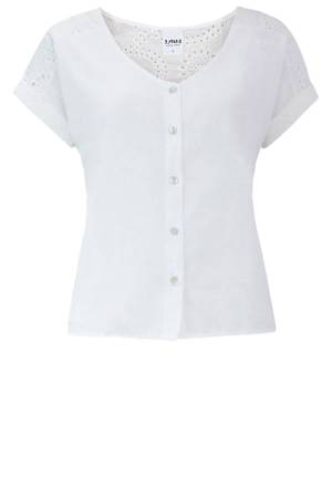 Simple Blouse overig Simple OLIVINE WHITE