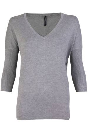Free Quent Trui Free Quent 116105 JONE-V-PU Med. Grey Melange