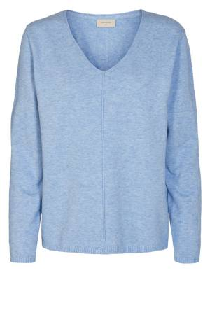 Free Quent 122004 FQCLAURA-V-PU Chambray Blue Melange