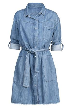 Summum Jurk l Summum 5s1187-5059 426 Vintage blue denim