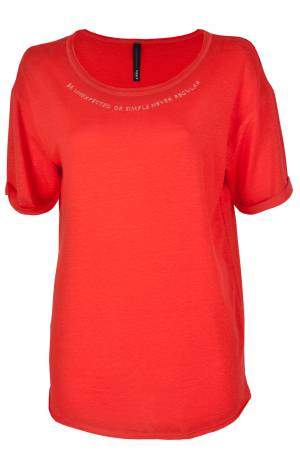 10 Days T-shirt 10 Days 20-740-8102 02-0002 fluor red