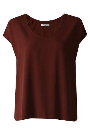 Circle of Trust T-shirt Circle of Trust W19_41 Dena Top Rusty Brown 5377