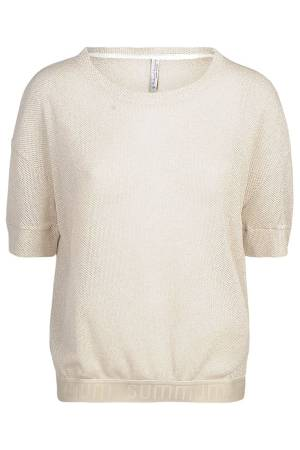 Summum T-shirt Summum 3s4373-30139 723 White sand