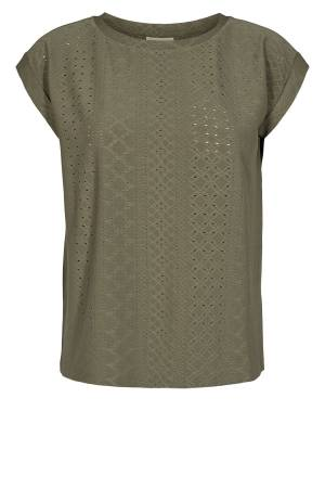 Free Quent T-shirt Free Quent 120433 FQBLOND-TEE Dusty Olive 18-0515