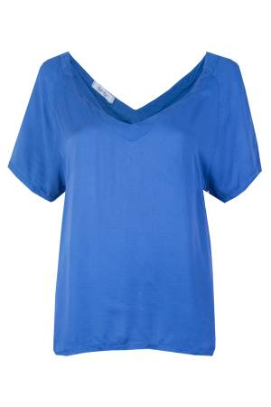 Zoto T-Shirt V-neck Zoto 81309 Blue Royal