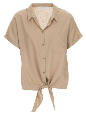 Free Quent Top overig Free Quent 122812 FQHELLA-SH-TIE beige sand